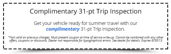 Complimentary 31-pt Trip Inspection