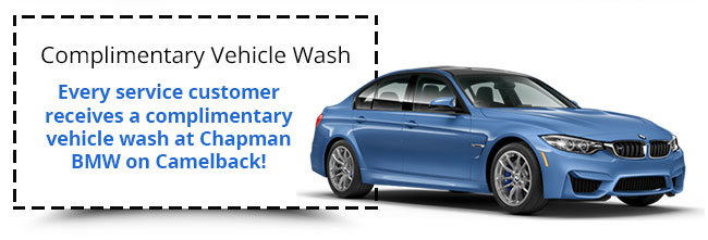 Every service customer receives a complimentary vehicle wash at Chapman BMW on Camelback