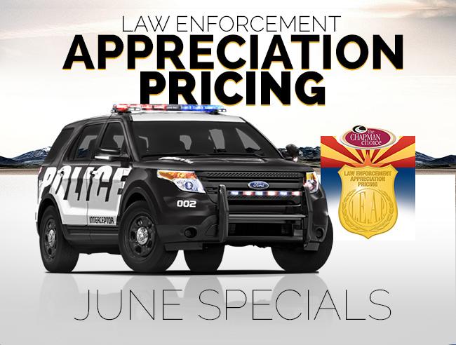 Law Enforcement Appreciation Pricing