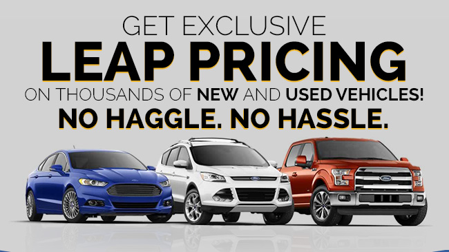 Get exclusive LEAP pricing on thousands of new and used vehicles! No Haggle. No Hassle.